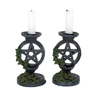 Nemesis maintenant - pentagramme vieilli - porte-bougies