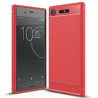 Soft Rubber Shell for Sony Xperia XZ1 Mobile Armor Shockproof Protection Solid Color TPU