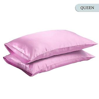 Smooth Silk Satin Pillow Case Bedding For Home