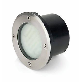1 Light Outdoor Recessed Spotlight Matt Nickel IP67
