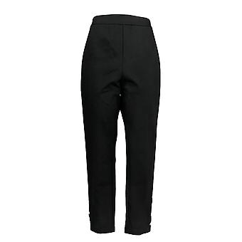 Joan Rivers Femmes-apos;s Pantalon Longueur de la cheville Snap Cuffs Noir A378287
