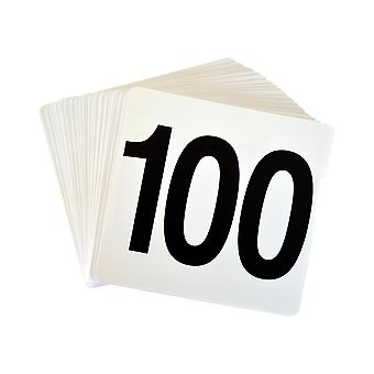 Argon Tafelwerk Tafelnummer Plastic Kaart Set 1-100. Dubbelzijdig