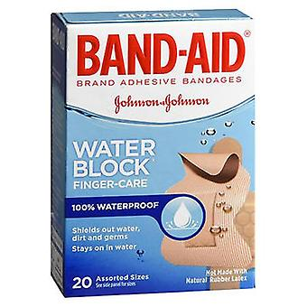 Band-Aid Water Block Finger-Care Adhesive Bandages Assorted Sizes, 20 Each