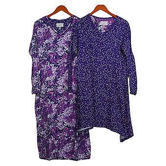 Carole Hochman Women's Bloemblaadjes & Dots Jurk en Sleepshirt Set Purple A294080