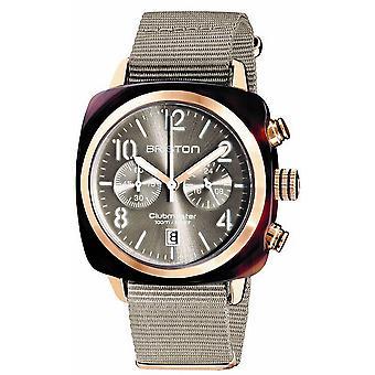 Briston Clubmaster Klassisk Acetate Kronograf klocka - Taupe / Rose Guld