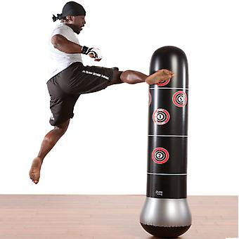 160cm Boxing Punching Bag Inflatable Freestanding Tumbler Muay Thai Training Press