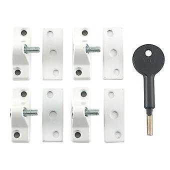 Yale locks 8K118 Economy Window Lock White Finish Pack de 4 Visi YALV8K1184WE