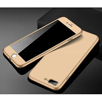 דברים מאושרים® iPhone 7 360 ° כיסוי מלא - מקרה גוף מלא + מגן מסך זהב
