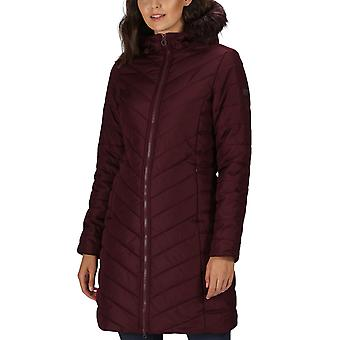 Regatta Womens Kimberly Walsh Fritha Quilted Fur Trimmed Parka Jacket - Burgundy