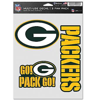 NFL Sticker Set of 3 20x15cm - Green Bay Packers