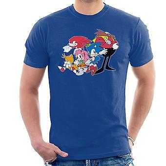 Sonic The Hedgehog Group Together Men's T-Shirt