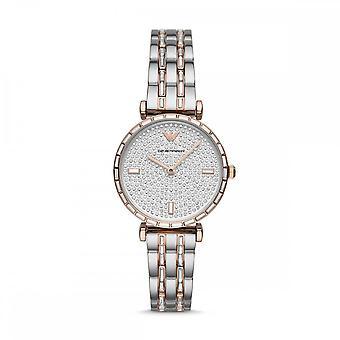 Armani Ar11293 Kaksisävyinen hopea & ruusukulta ruostumaton teräs Naiset's Watch