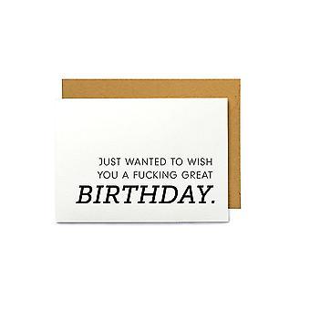 Syntymäpäivän tervehdyskortti