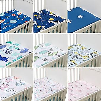 Newborn Baby Crib Fitted Bed Mattress Breathable Cartoon Print Sheet