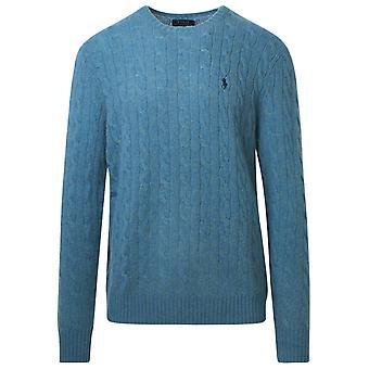 Ralph Lauren 710719546029 Men's Petrol Wool Sweater