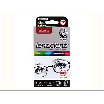 Acana Lenz Clenz Anti Fog Optical Wipes x 30 5635-1