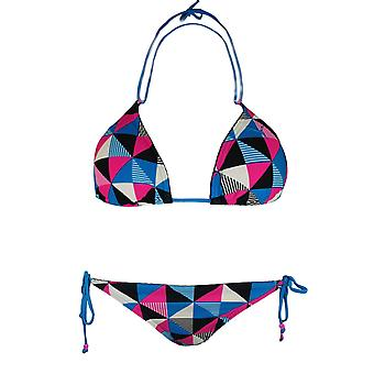 Puma Womens Check Triangle Bikini Tie Up Swimwear 562499 03