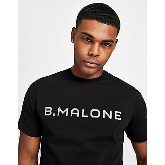New B Malone Men's Large Logo Short Sleeve T-Shirt Black