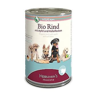 الكلب الغذاء الجراء لحوم البقر مع أبل 400 غرام