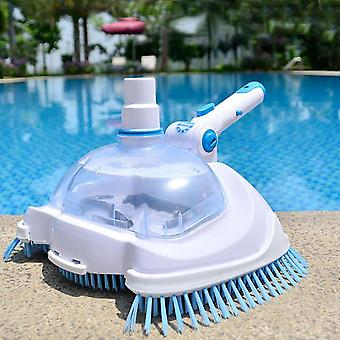 Pool Vacuum Head Pool Spa Vacuum Head Transparent Manual Action Machine Cleaning Maintenance Tools Pool Cleaner