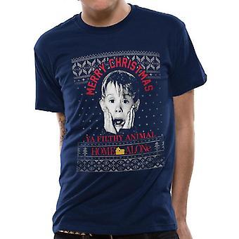 Home Alone Unisex Adult Kevin Fair Isle Christmas T-Shirt