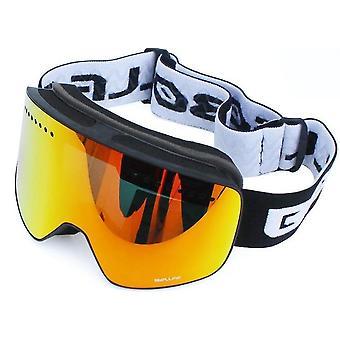 نظارات Uv400 للتزلج على الجليد المضادة للضباب، نظارات تزلج للرجال، حالة نظارات