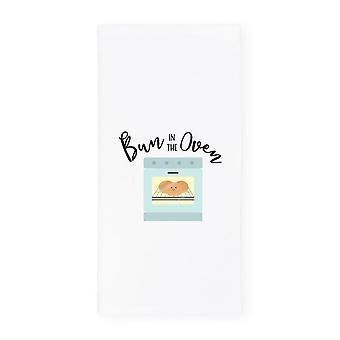 Bun In The Oven-cotton Canvas Kitchen Tea Towel