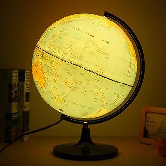 110V Blue Ocean World Earth Globe Kartta Pyörivä YöValo Työpöydän sisustus Koulutus