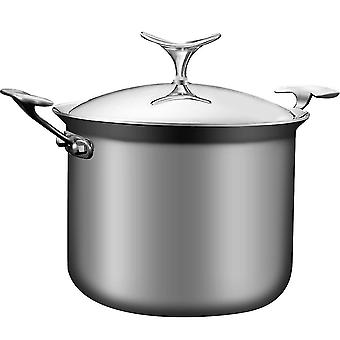 Stainless Steel Aluminum-clad Stock Pot With Cover
