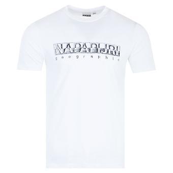 Napapijri Sallar Short Sleeve T-Shirt - White