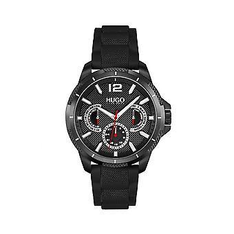 HUGO 1530193 Sport Black & Gunmetal Grey Silicone Men's Watch