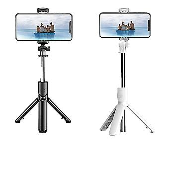 Bt selfie stick trípode plegable de 360o rotación multifuncional portátil ajustable