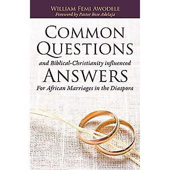 Common Questions and Biblical-Christianity Influenced Answers for Afr