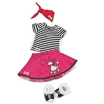 Our generation dolls bop till you drop pink poodle dress outfit