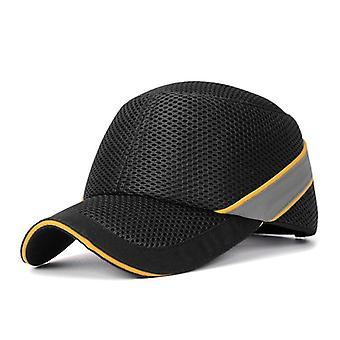 Arbeitssicherheit Bump Cap Baseball Hut Stil Netz Tuch Hi-viz Anti-Kollision hart