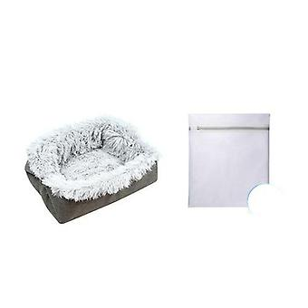 Plus Cat Bed Cat Mat Litter Plush Two-in-one iarna Cald Dog House