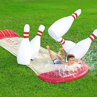 2 W 1 -lawn Water Slide i bowling gry