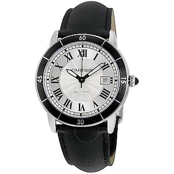 Cartier Ronde Croisiere Automatic Silver Dial Men's Watch WSRN0002
