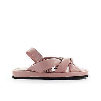 Strategia Babe Nude Pink Nappa Flat Sandal