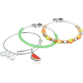 Alex and Ani Color Infusion - One in a Melon Set of 3 Bracelet Expandable
