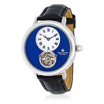 Watch Louis Cottier STORYMATIC Automatic 43 mm Blue silver case - black bracelet - HB34330C4BC1