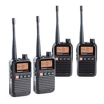 תחנת רדיו ניידת PMR PNI Dynascan R-10, 0.5W, 8CH, DCS, CTCSS, רדיו FM, Quadset עם 4 חתיכות