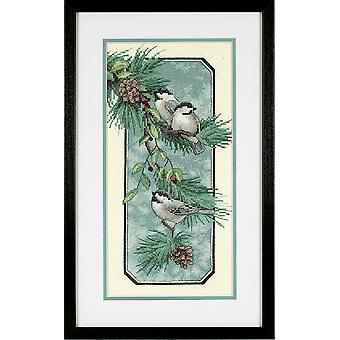 Dimensions Stamped Cross Stitch: Chickadees on a Branch