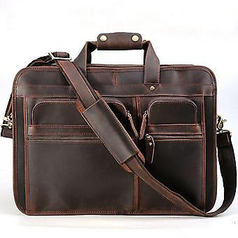 Genuine Leather Briefcase For Male, Leather Handbags