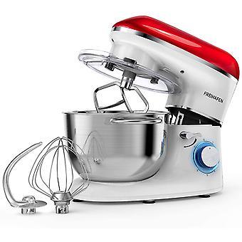 HanFei Küchenmaschine Knetmaschine 1400W, 5.5L Reduzierte Geräusche Knetmaschine mit Rührbesen,