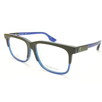 Alexander McQueen Eyeglasses Frame MCQ0055/F Black Blue Acetate Italy 55-15-145