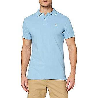 Herrlicher Score Polo Pique T-Shirt, Blue (Where 59), Small Man