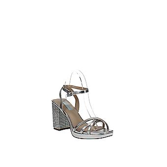 Blue By Betsey Johnson   Faux Leather Ankle Strap Heel Sandals