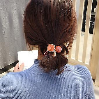 10pcs/20pcs/30pcs/lot New Fashion amber Hair rope Accessories for Women Ultra-Stretch All-match Vintage Crystal Block Girls Hair Band