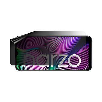 Celicious Privacy Lite (Landscape) 2-Way Anti-Glare Anti-Spy Filter Screen Protector Film Compatible with Realme Narzo 20